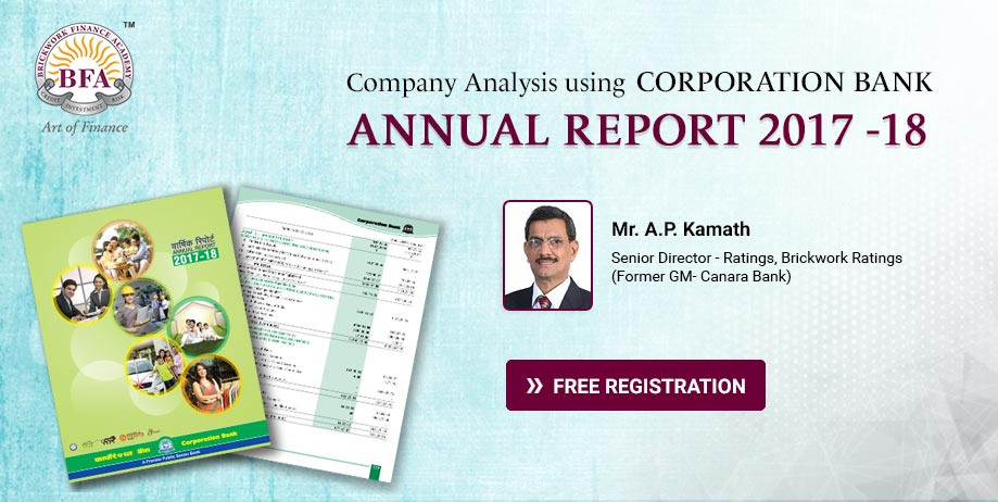 Company Analysis using Corporation Bank Annual Report 2017 -18