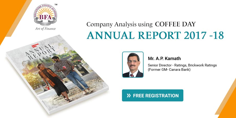 Company Analysis using Coffee Day Annual Report 2017 -18