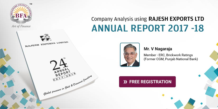 Company Analysis using Rajesh Exports Ltd Annual Report 2017 -18